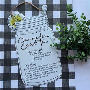 Metal Wall Decor - Summertime Sweet Tea
